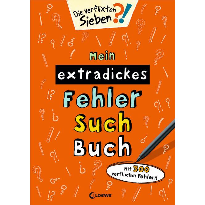 Die verflixten Sieben - Mein extradickes Fehler-Such-Buch