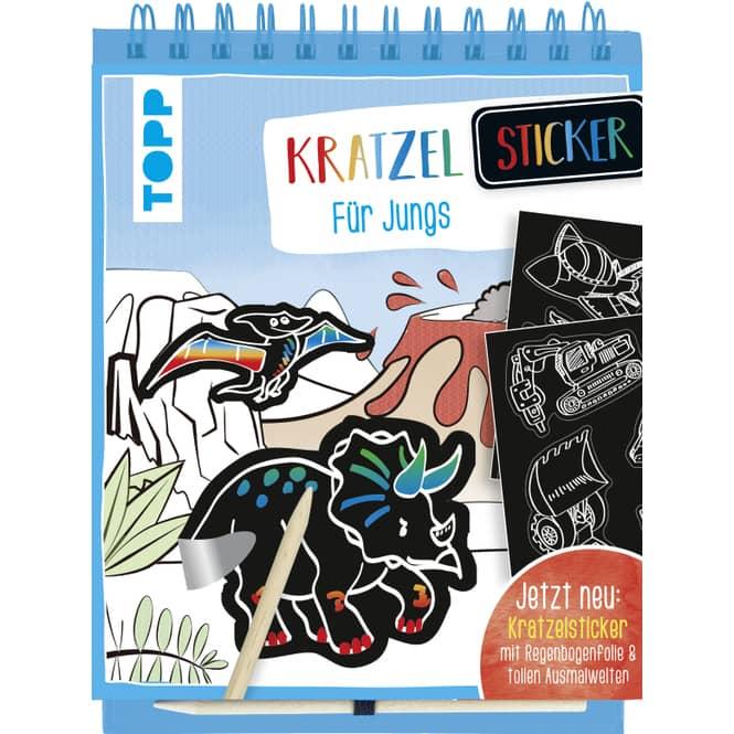 Kratzel-Stickerbuch - Für Jungs