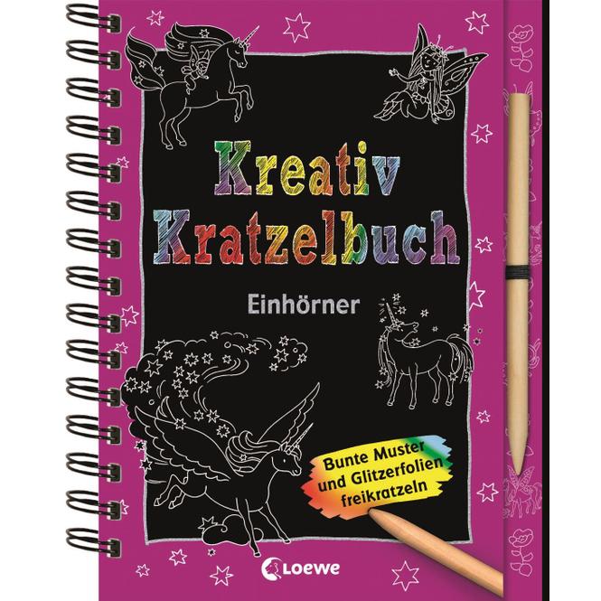 Kreativ Kratzelbuch - Einhörner