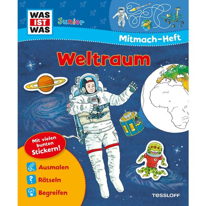Was ist was Junior - Mitmach-Heft - Weltraum