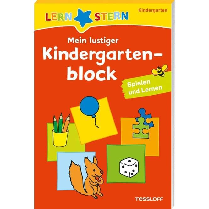 Mein lustiger Kindergartenblock - Spielen und Lernen - Lernstern