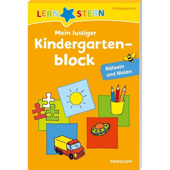 Mein lustiger Kindergartenblock - Rätseln und Malen - Lernstern