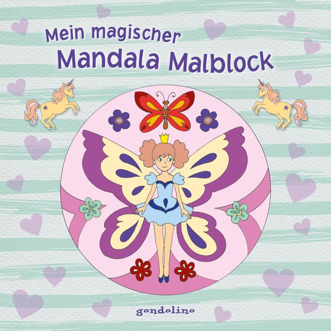 Mein magischer Mandala Malblock - Blumenelfe