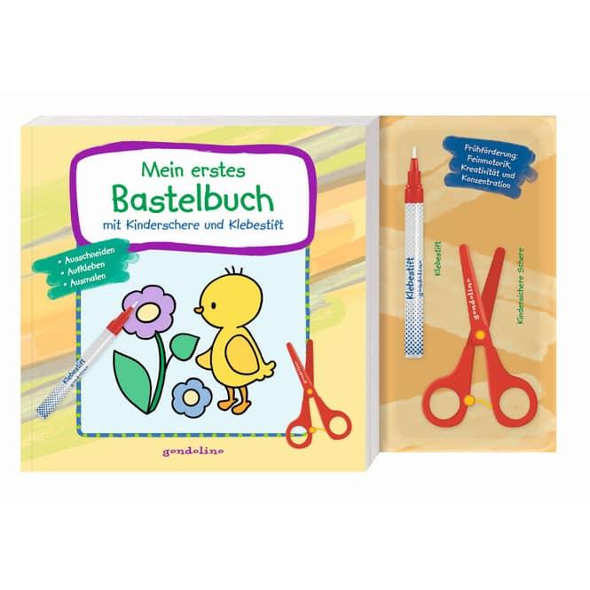 Mein erstes Bastelbuch - mit Kinderschere und Klebestift