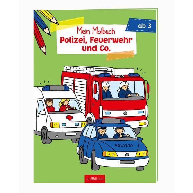 Mein Malbuch - Polizei, Feuerwehr und Co. - ab 3 Jahre