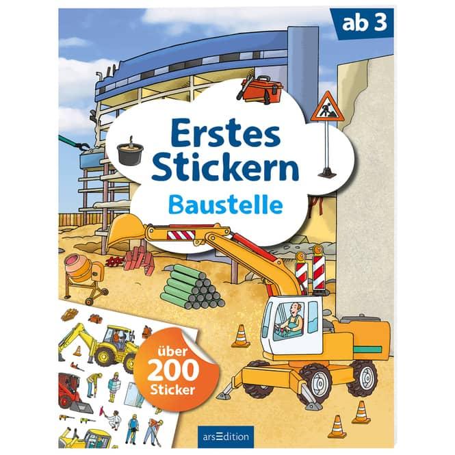 Erstes Stickern - Baustelle - über 200 Sticker