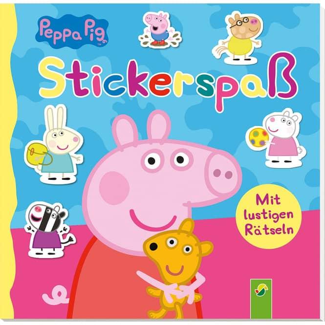 Peppa Wutz - Stickerspaß - mit lustigen Rätseln