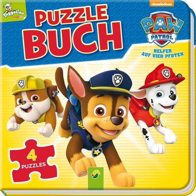 PAW Patrol - Puzzlebuch - Mit 4 Puzzles à 12 Teilen