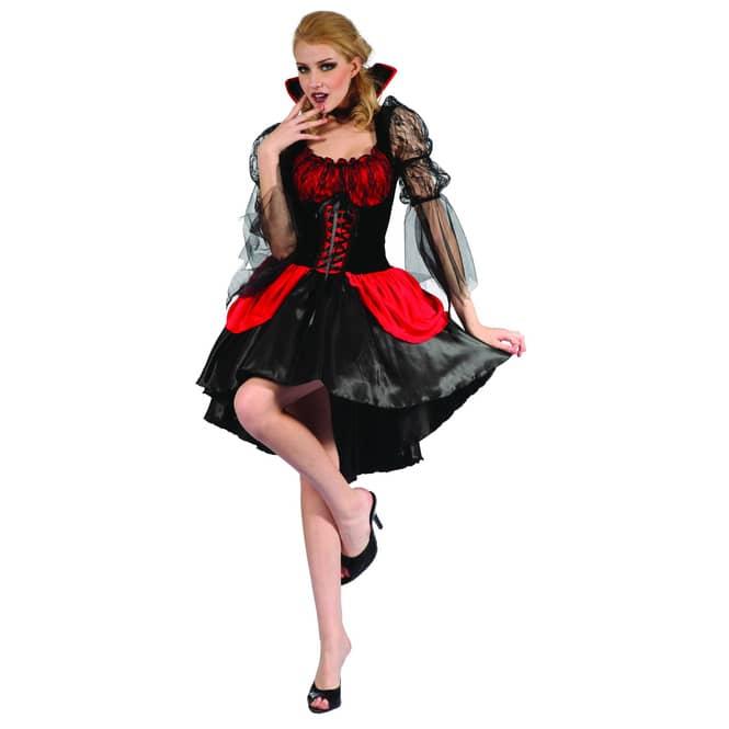 Kostüm Vampirfrau für Erwachsene, 2-teilig