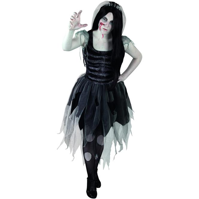 Kostüm - Zombielady - für Erwachsene - 2-teilig - Größe 40