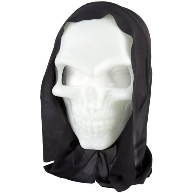 Halloweenmaske - Totenkopf - Glow in the dark - für Erwachsene
