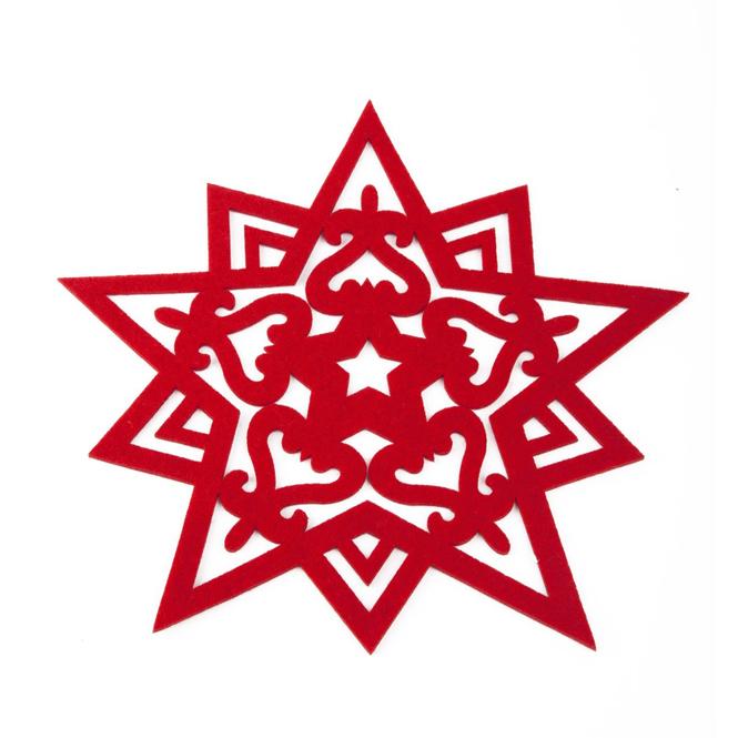 Filz Stern rot in zwei verschiedenen Größen