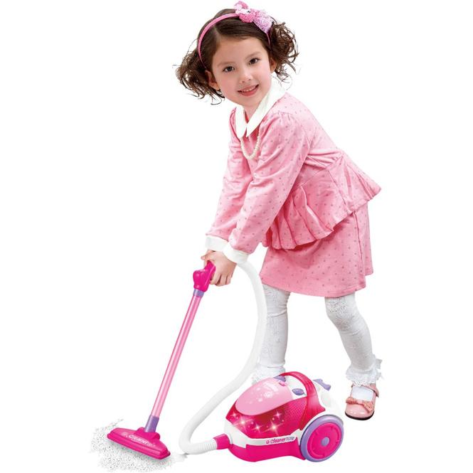 Staubsauger für Kinder - pink/weiß
