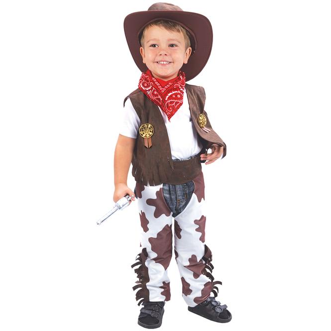 Kostüm - Kleiner Cowboy - für Kinder - 3-teilig - Größe 86/92