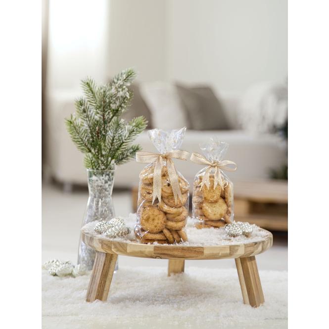 10 Zellglasbeutel Weihnachtsdruck, 145x235mm, folia