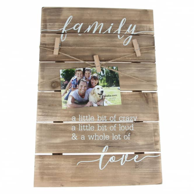 Bilderrahmen - Family Love - aus Holz - 31 x 3 x 47 cm