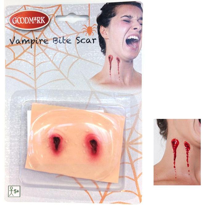 Kunst-Wunde - Vampirbiss - aus Latex