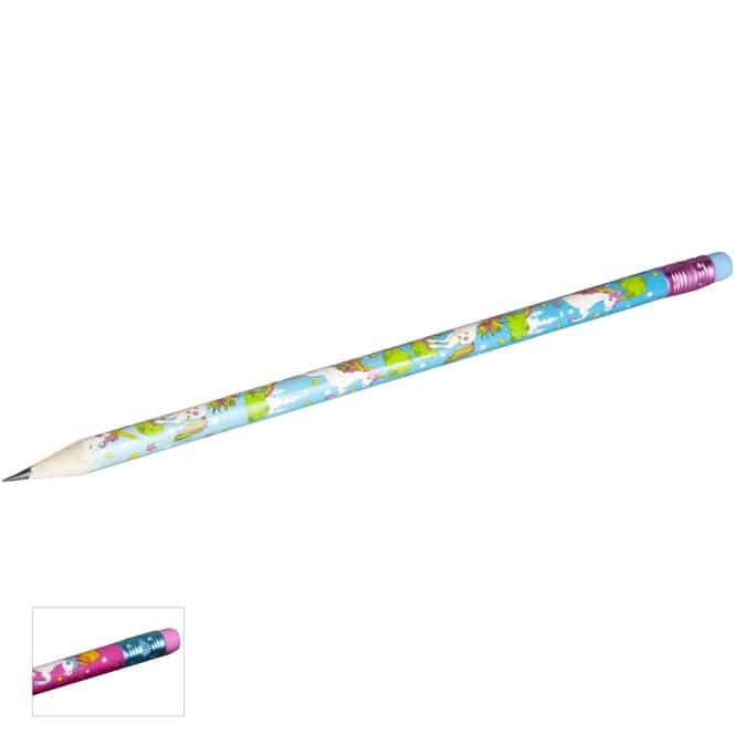 Bleistift mit Radierer - verschiedene Motive - 1 Stück