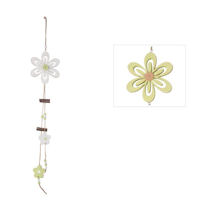 Dekohänger aus Holz - Blume - ca. 64 x 12 cm - 1 Stück
