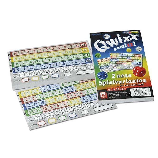 Zusatzblöcke für Qwixx - Qwixx gemixxt