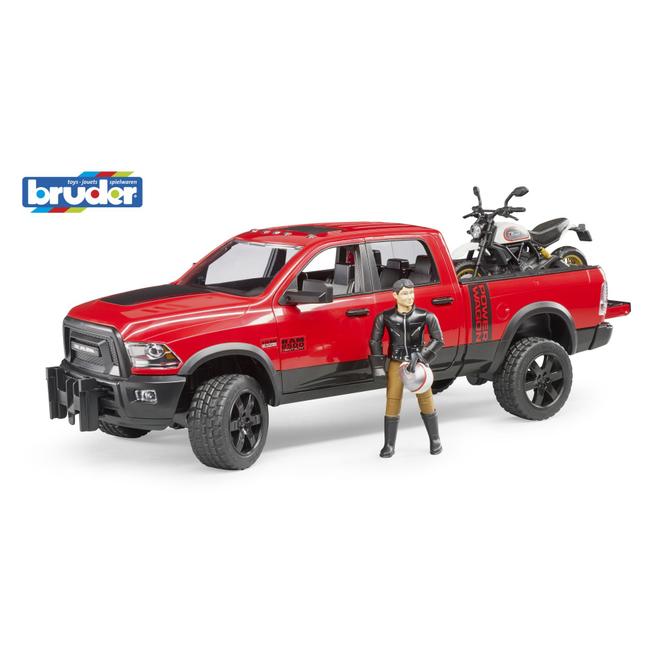 Bruder 02502 - RAM 2500 Power Wagon mit Ducati und Figur