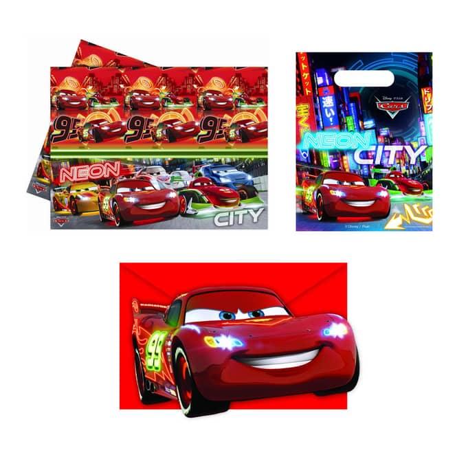 Disney Cars Neon City Partyzubehör Set