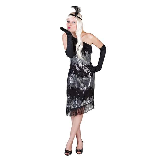 Kostüm Charlston für Erwachsene 3tlg schwarz