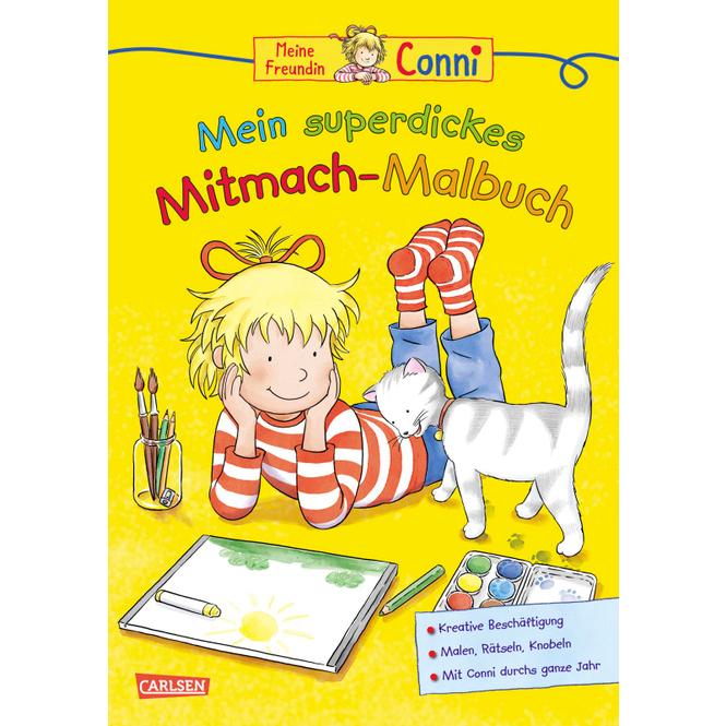 Mein superdickes Mitmach-Malbuch - Conni, gelbe Reihe