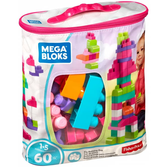 Mega Bloks - Bausteinebeutel - Medium 60 Teile - pinkfarben