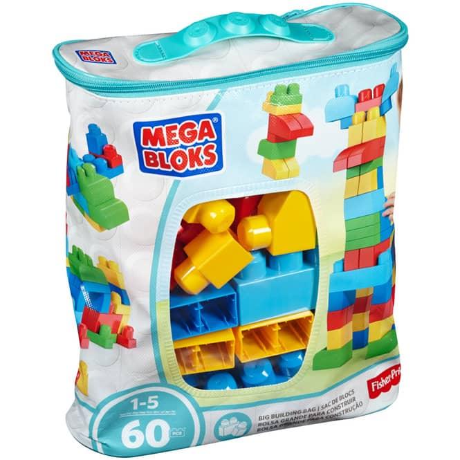 Mega Bloks - Bausteinebeutel - Medium 60 Teile - Grundfarben