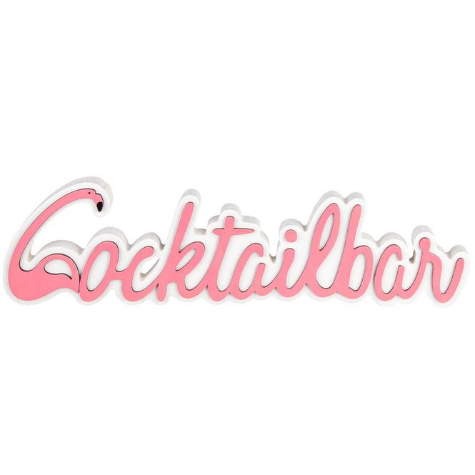 Deko-Schriftzug - Cocktailbar - aus Holz - ca. 35 x 10 cm