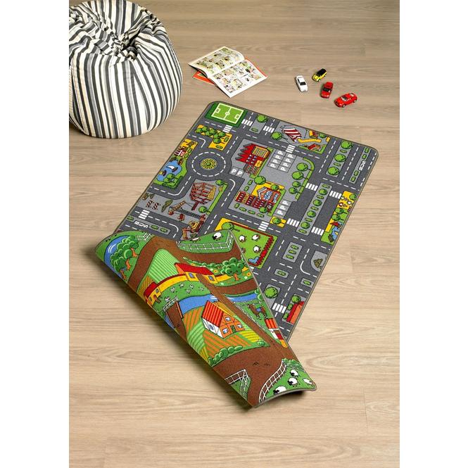 Spielteppich City/Farm - Maße: ca. 100 x 165 cm