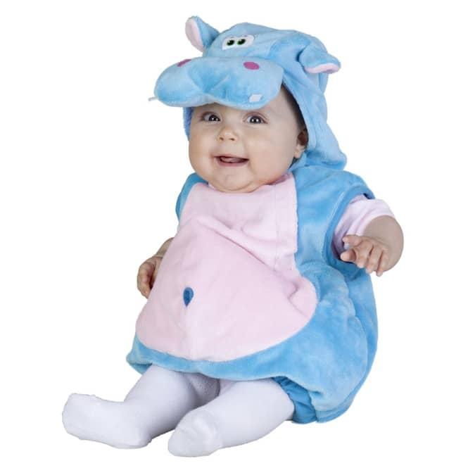 Baby Kostüm Plüsch Hippo, blau
