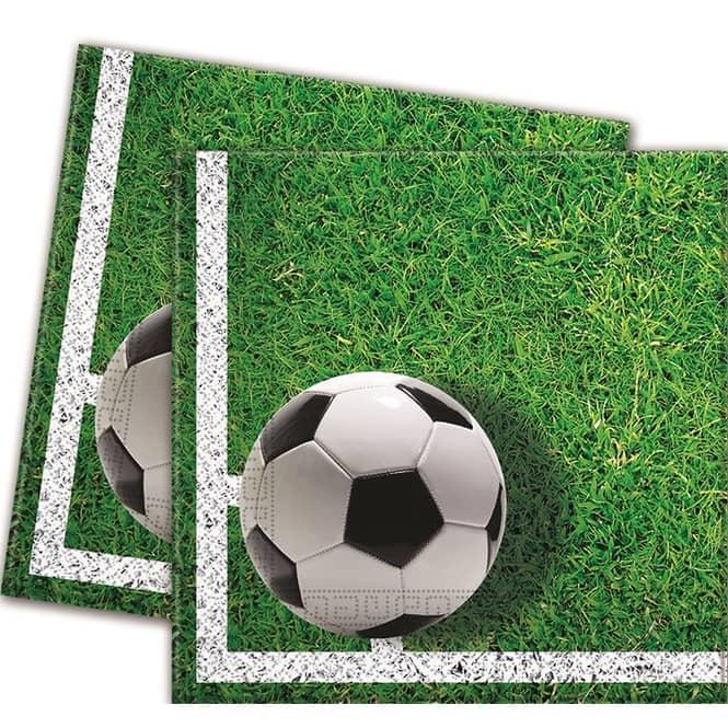 20 Partyservietten - Fußball - Maße: 33 x 33 cm