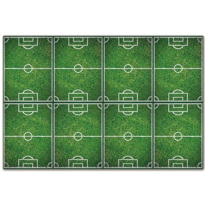 1 Partytischdecke - Fußball - Maße: 120 x 180 cm