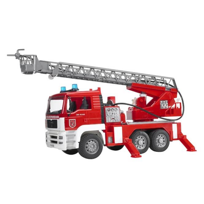 BRUDER 02771 MAN Feuerwehr mit Drehleiter