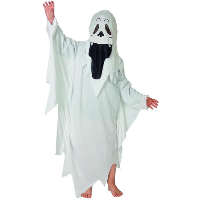 Kostüm - Geist - für Kinder - 2-teilig - Größe 122/128