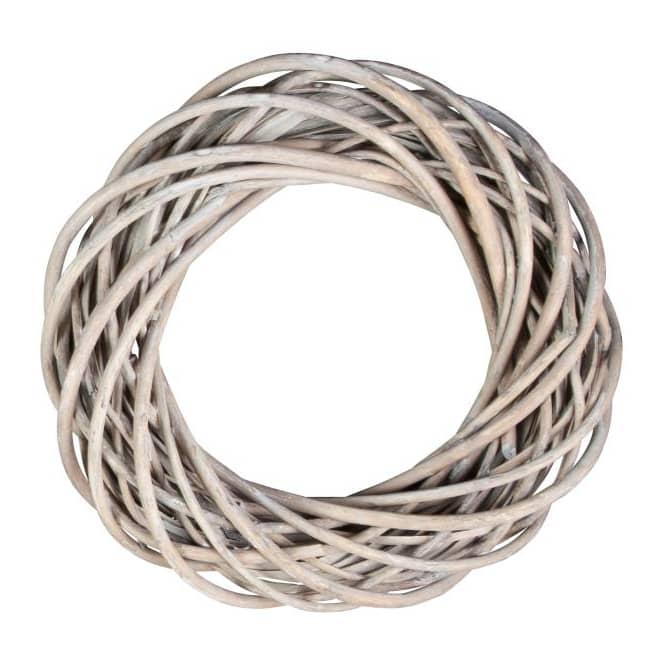 Dekokranz - aus grauer Spaltweide - 25 cm
