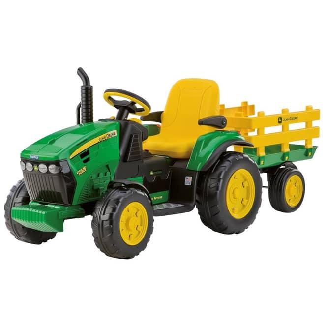 Peg Perego Elektrofahrzeug John Deere Traktor mit Anhänger 12V