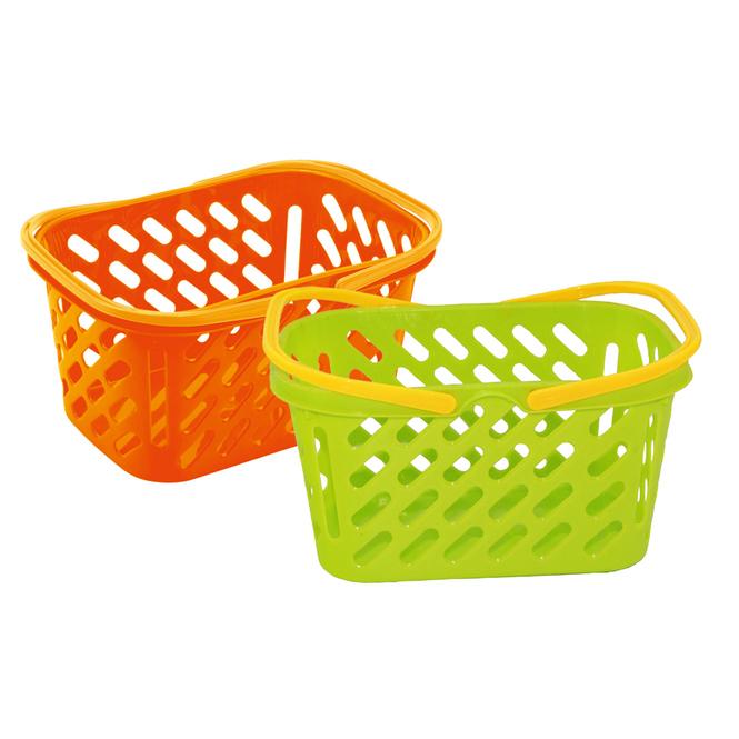 Einkaufskorb für Kinder grün oder orange