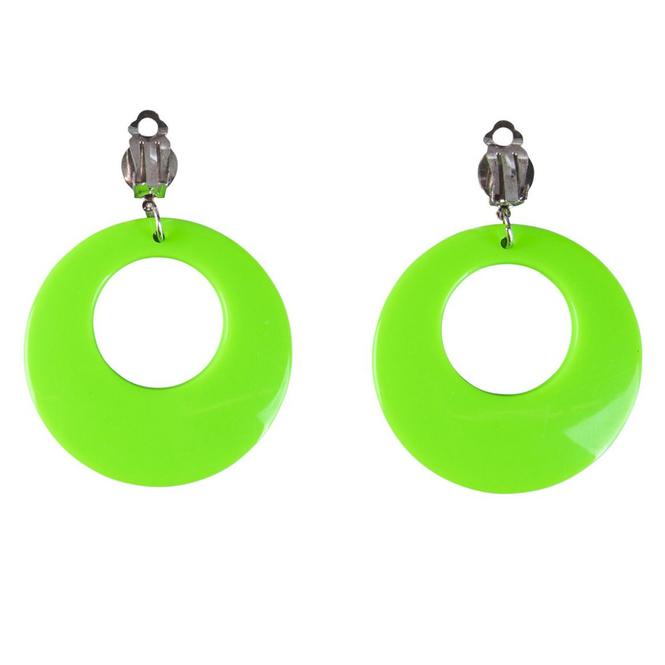Faschingsschmuck - Ohrringe - neongrün