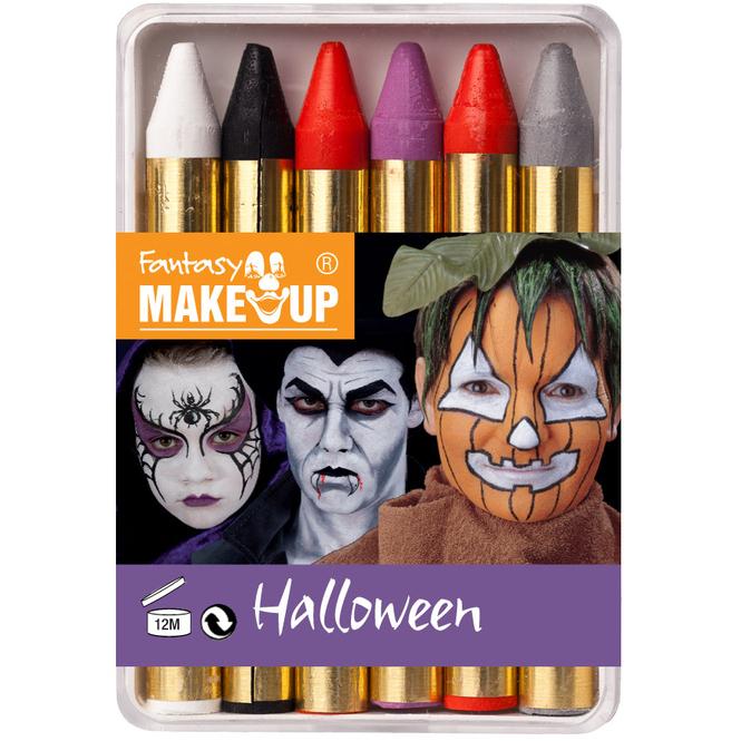 Halloween Schminkstifte, 6 Stück