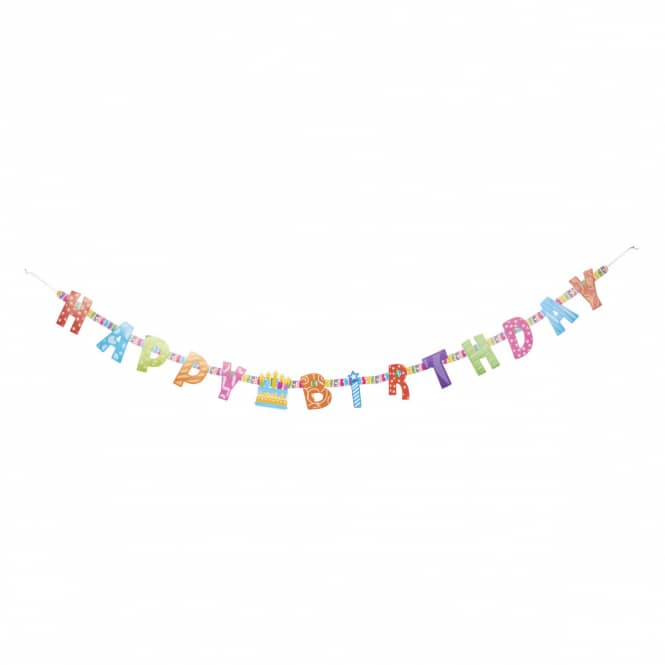 Girlande - Happy Birthday - ca. 155 x 10 cm