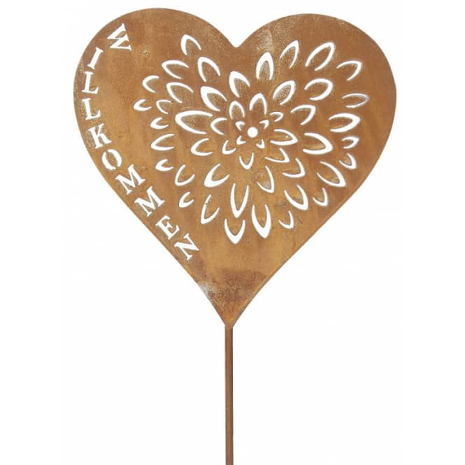 Pflanzenstecker - Herz - 75 cm