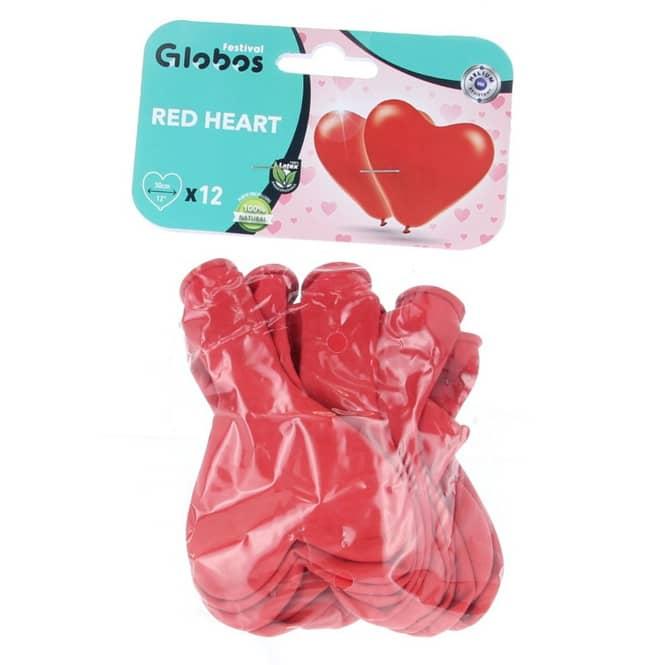 Luftballons - Herz - 12 Stück
