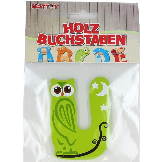 Besttoy - Holzbuchstabe - U - grün