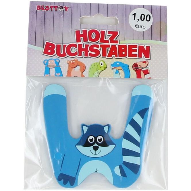 Besttoy - Holzbuchstabe - W - blau