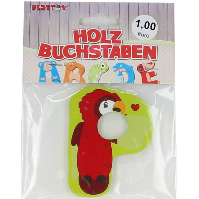 Besttoy - Holzbuchstabe - P - grün
