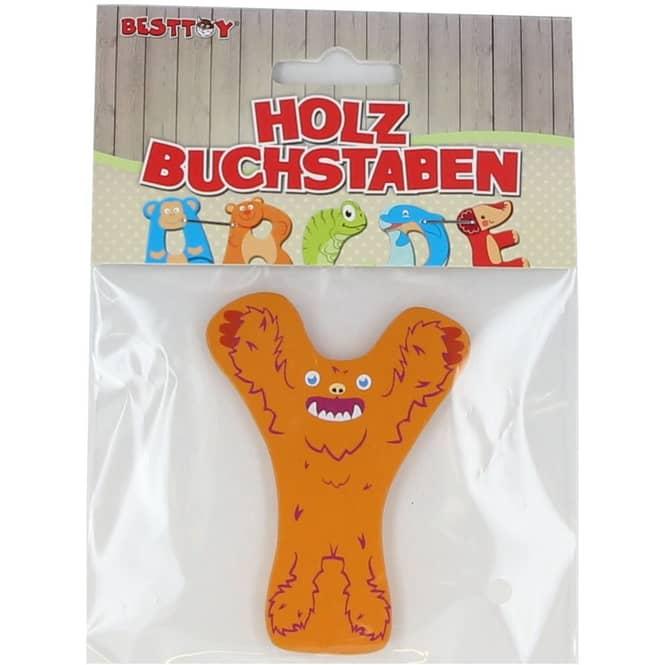 Besttoy - Holzbuchstabe - Y - orange