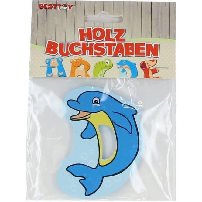 Besttoy - Holzbuchstabe - D - blau